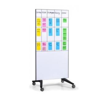 Legamaster 7-105100 90 x 175 cm Mobile Glassboard- White