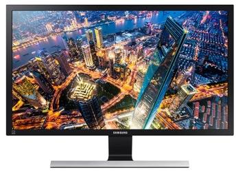 "Samsung UHD 28"" Monitor with High Glossy Black Finish"