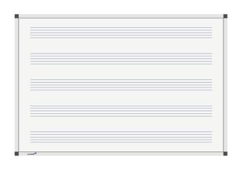 Legamaster 7-101963 Premium Music Lines Board 100 x 150 cm